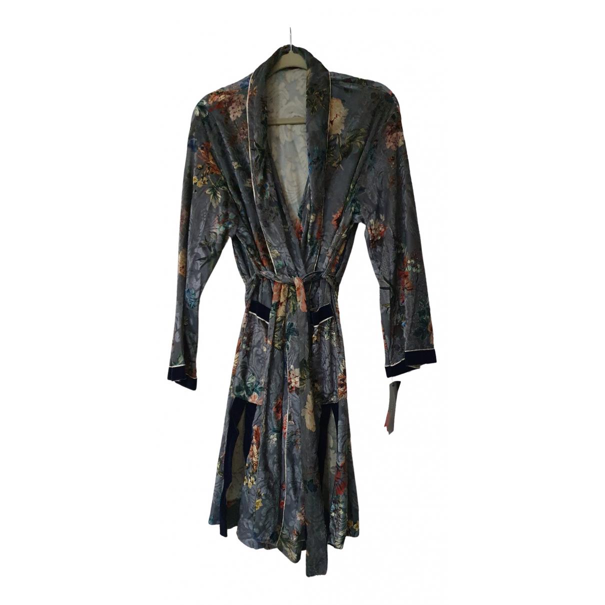 Zara \N Kleid in  Bunt Samt