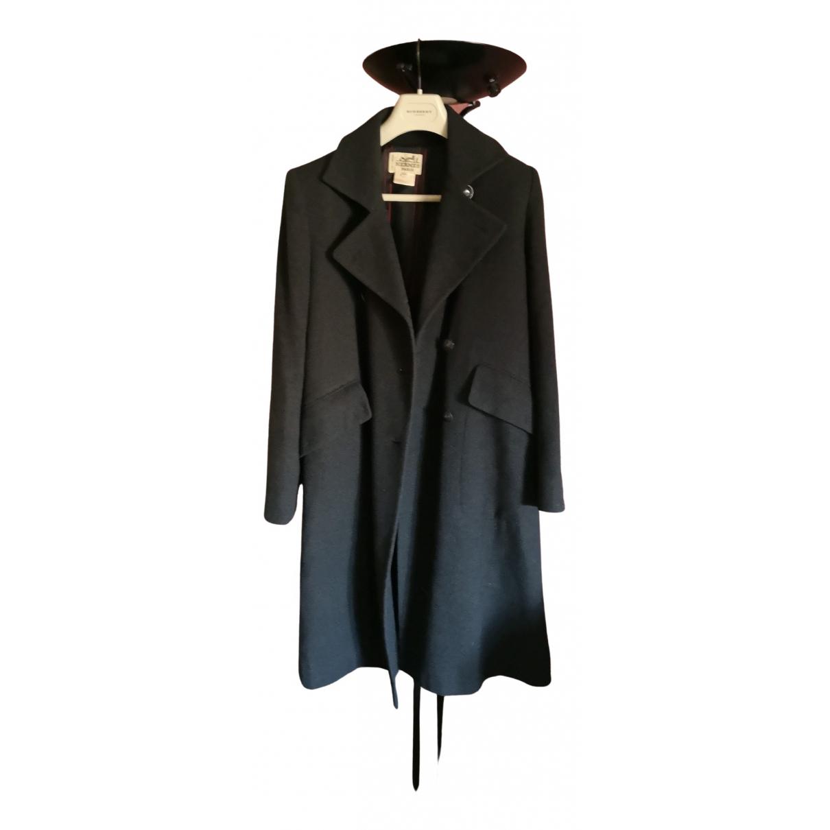 Hermes - Manteau   pour femme en laine - gris