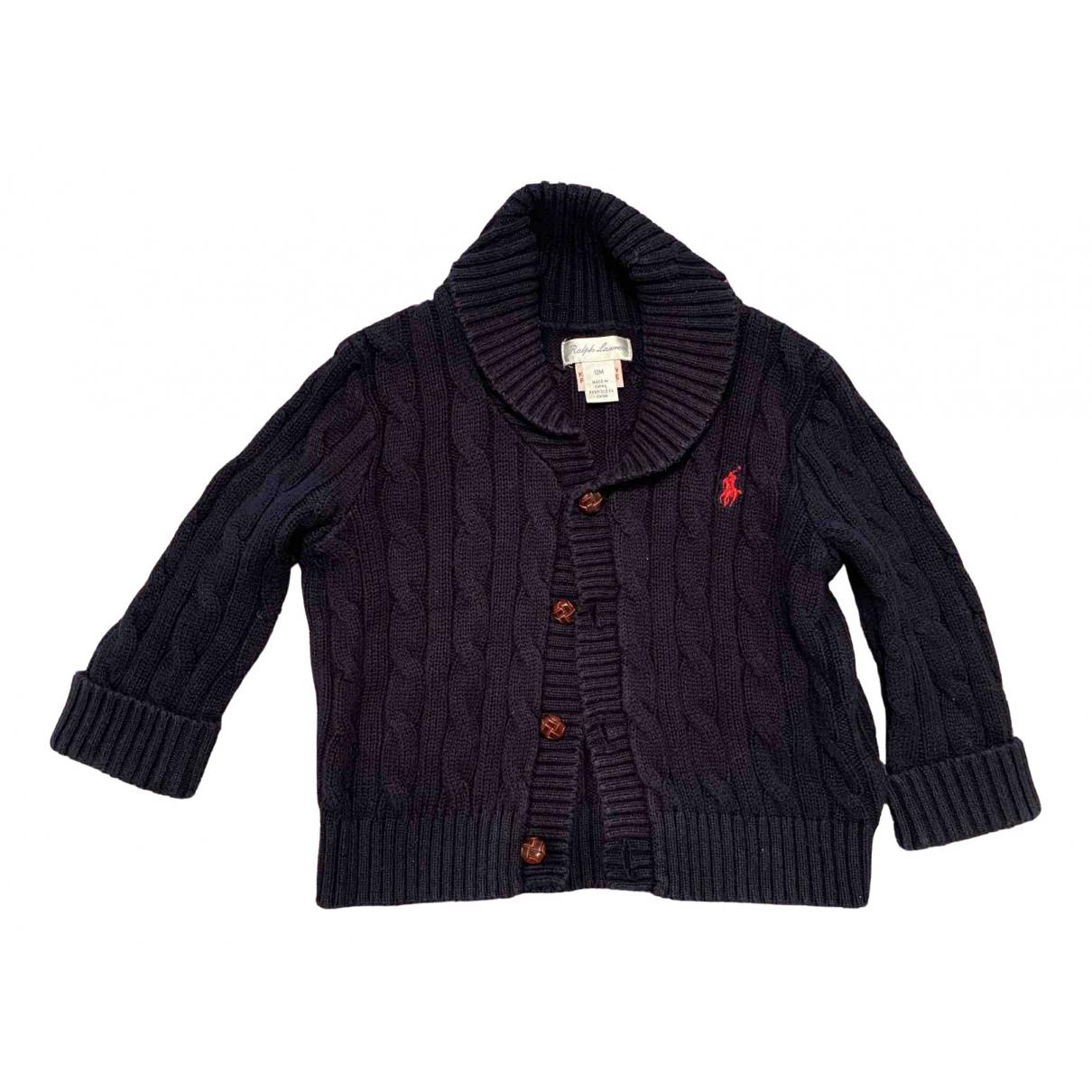 Ralph Lauren \N Pullover, StrickJacke in  Blau Baumwolle