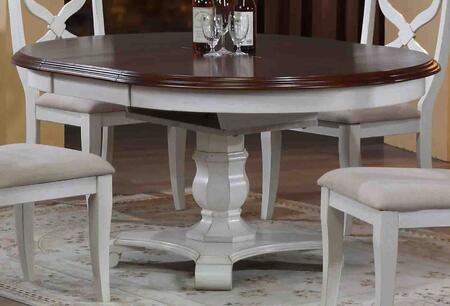 Andrews Collection DLU-ADW4866-AW 48 - 66 Butterfly Leaf Dining Table with 18 Butterfly Leaf Pedestal Base and Distressed Detailing in Antique