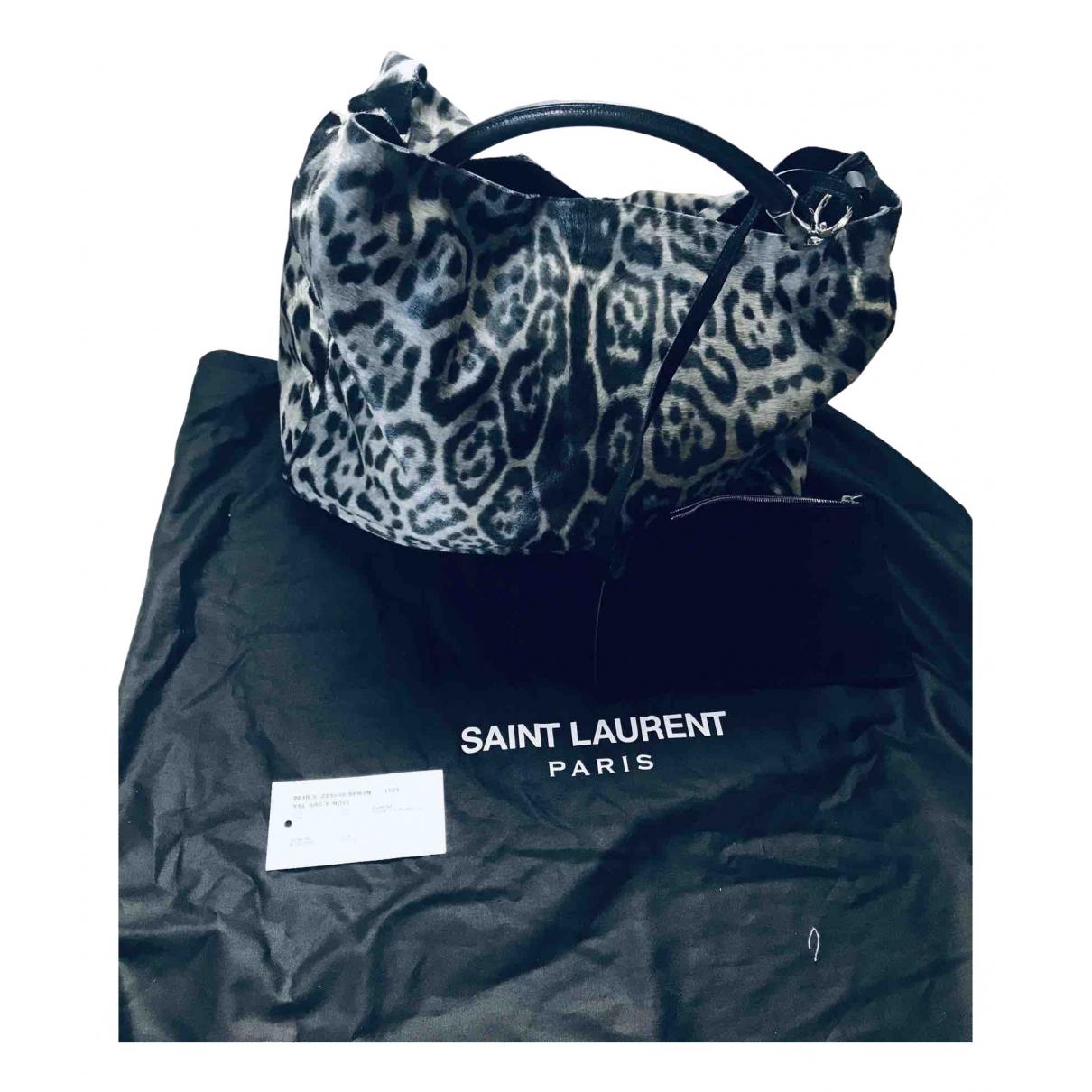 Yves Saint Laurent Roady Grey Pony-style calfskin handbag for Women N