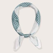 Polka Dot & Striped Pattern Bandana