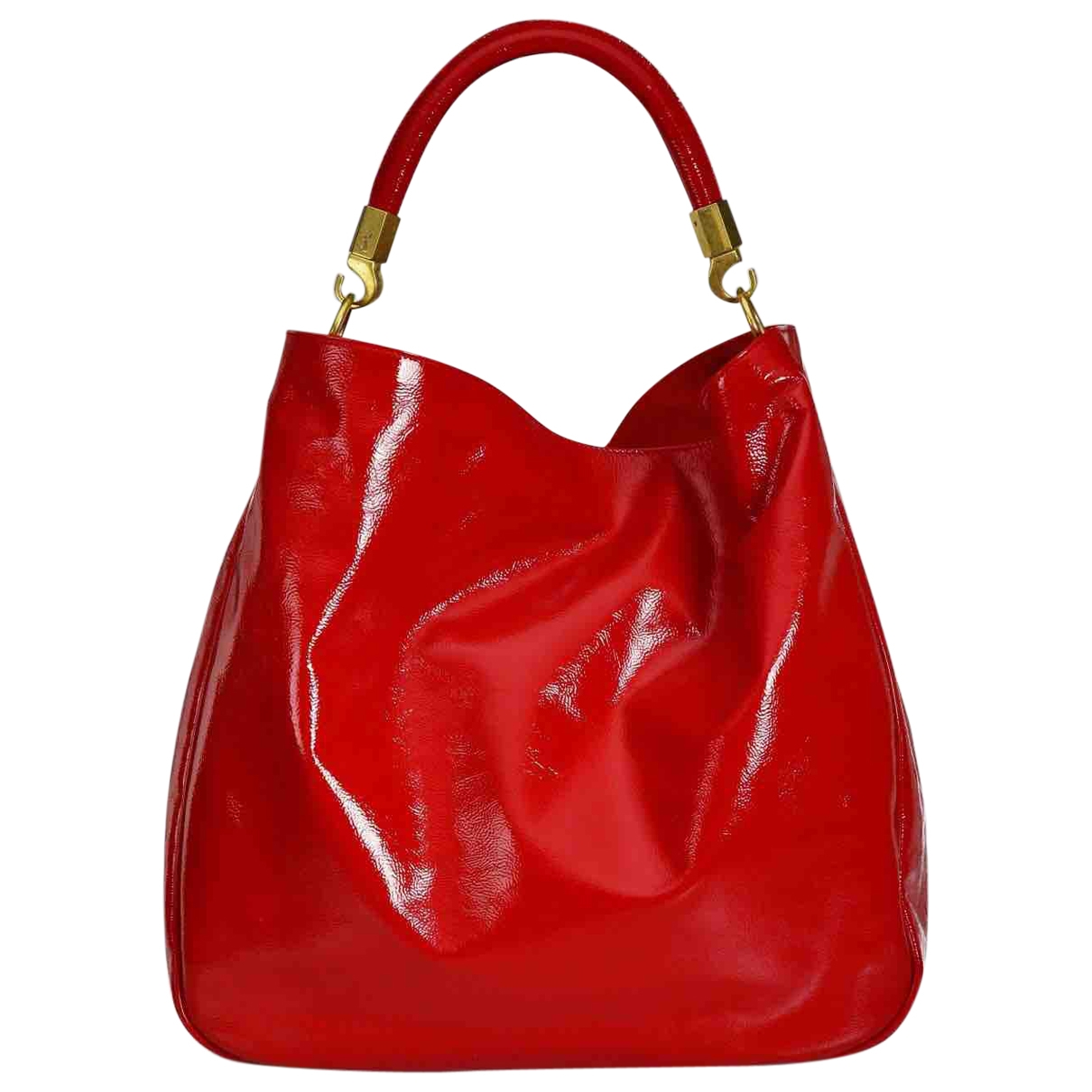 Yves Saint Laurent Roady Red Patent leather handbag for Women \N