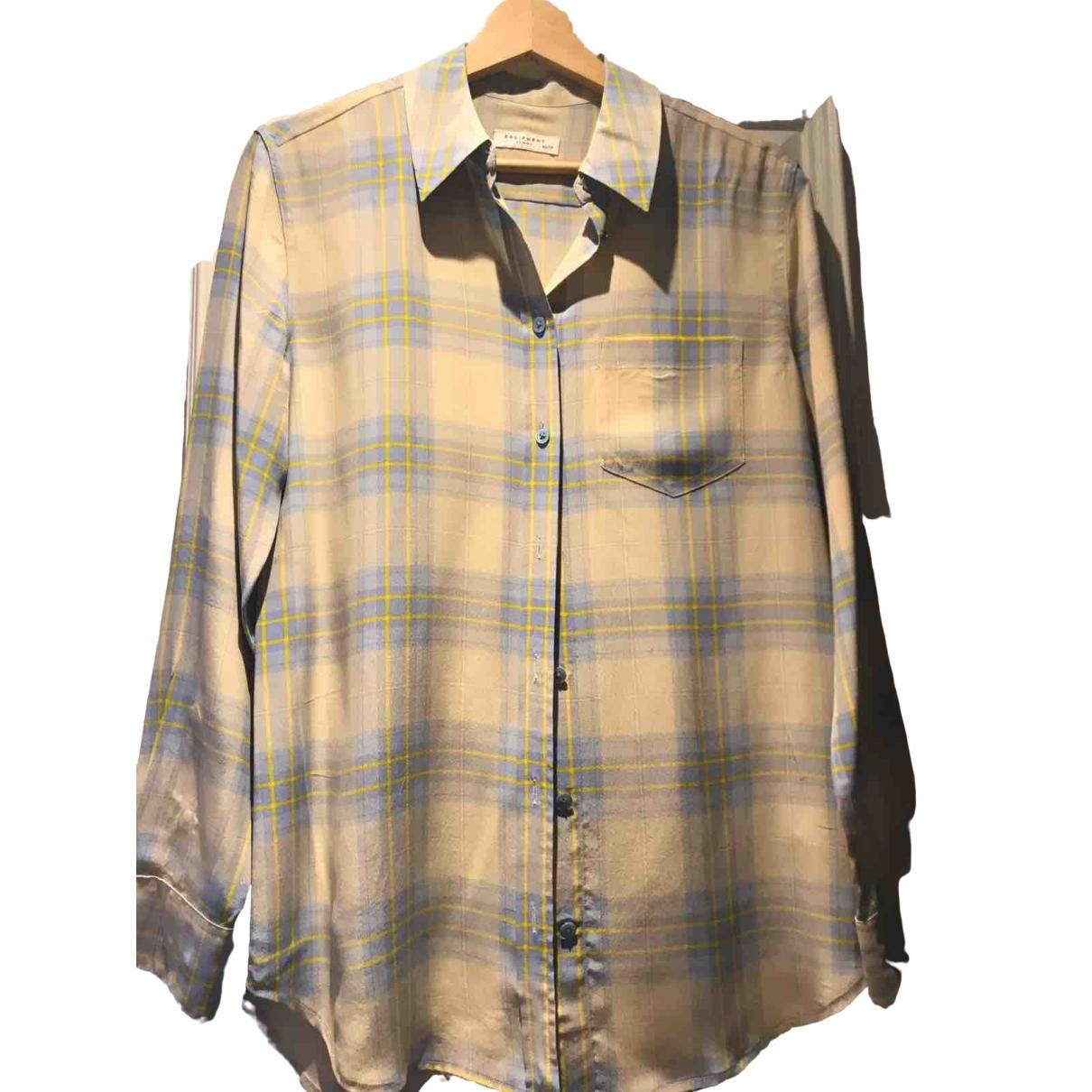 Equipment \N Beige Silk  top for Women XS International