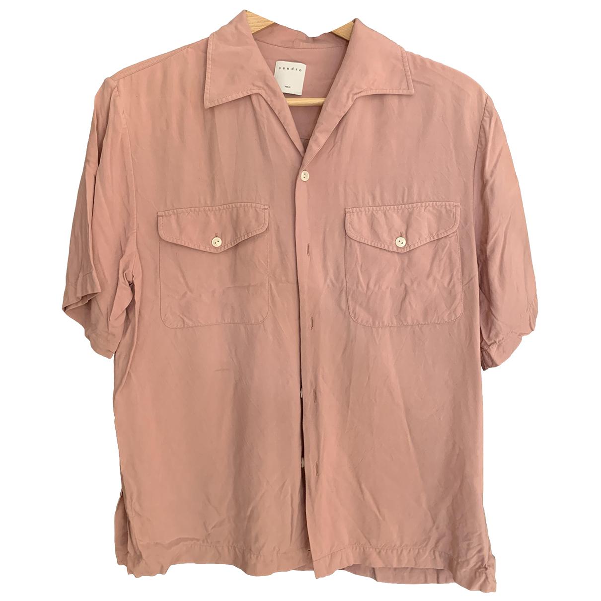 Sandro - Chemises Spring Summer 2019 pour homme en cuir - rose