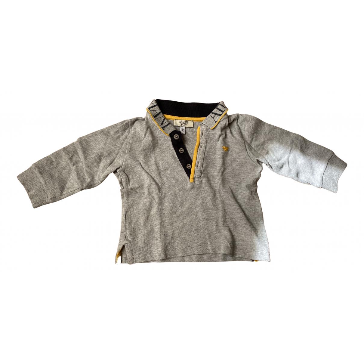 Armani Baby - Top   pour enfant en coton - gris