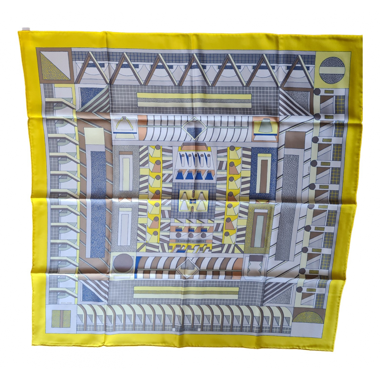 Hermès Carré 90 Yellow Silk Silk handkerchief for Women N