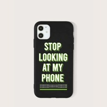 Funda de iphone con estampado de slogan