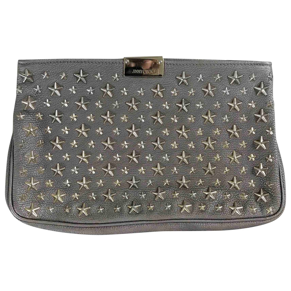 Jimmy Choo \N Clutch in  Braun Leder