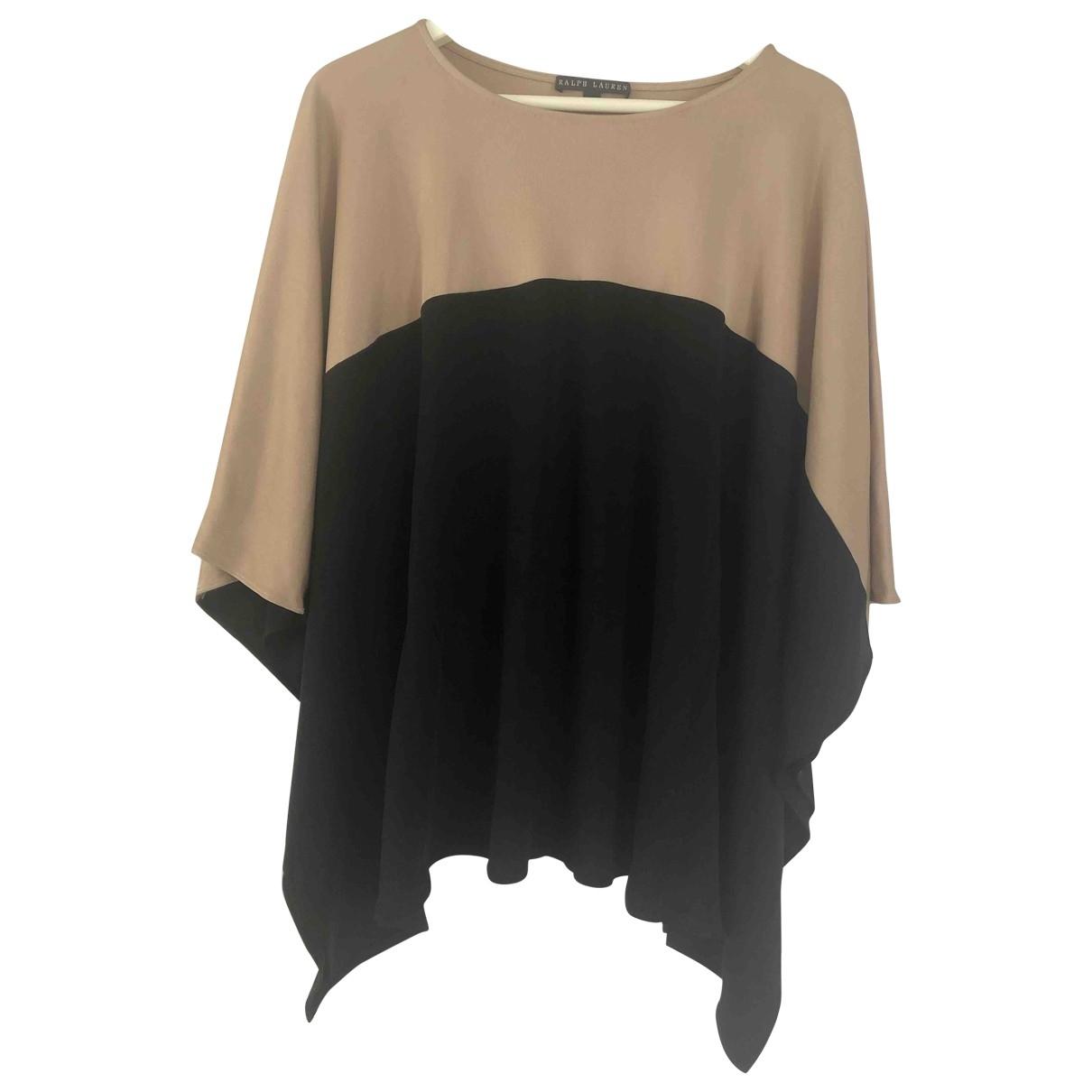Ralph Lauren - Top   pour femme en soie - noir