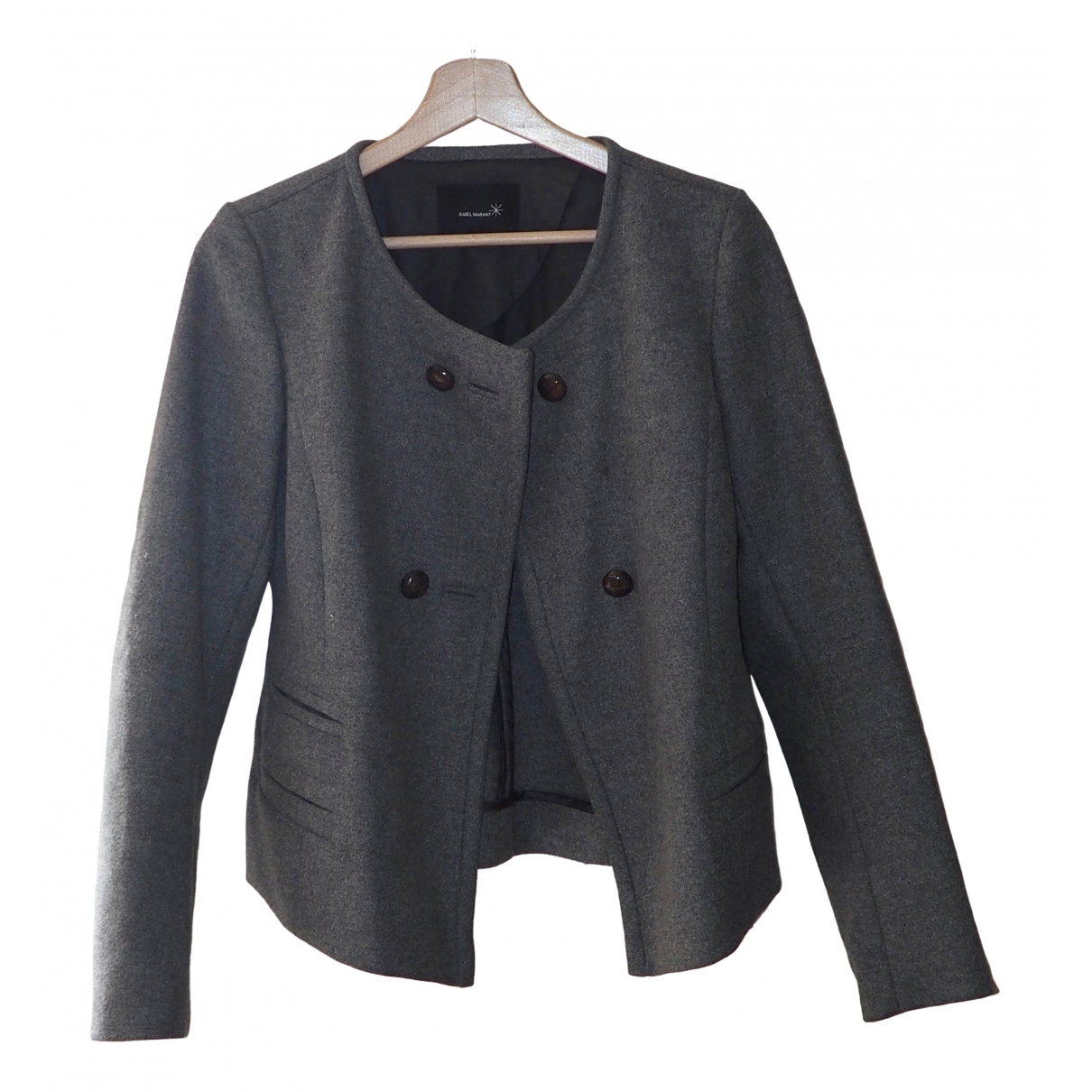 Isabel Marant \N Jacke in  Grau Wolle