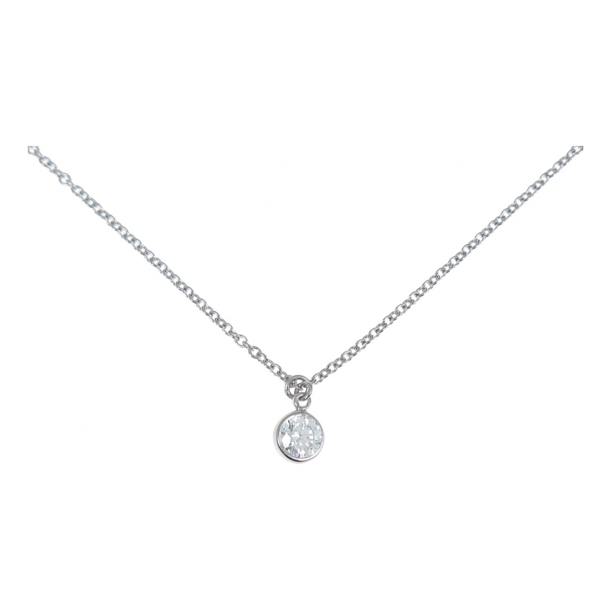 Tiffany & Co Elsa Peretti  Kette in  Silber Weissgold