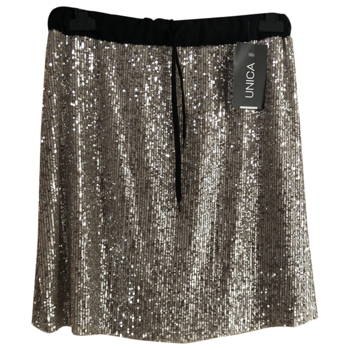 Non Signé / Unsigned \N Silver skirt for Women One Size International