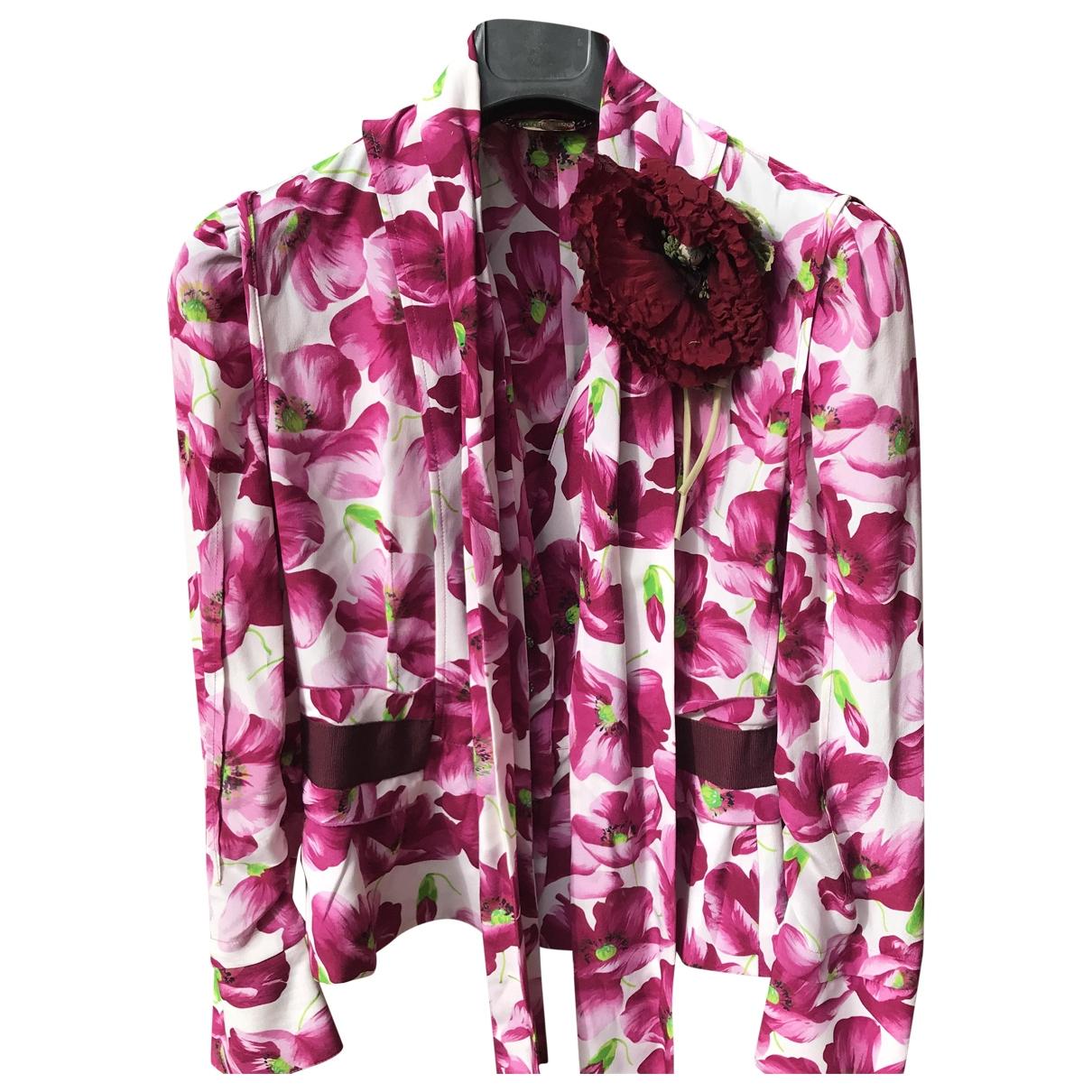 Dolce & Gabbana - Top   pour femme en soie - rose