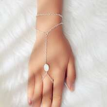Oval Decor Layered Mittens Bracelet
