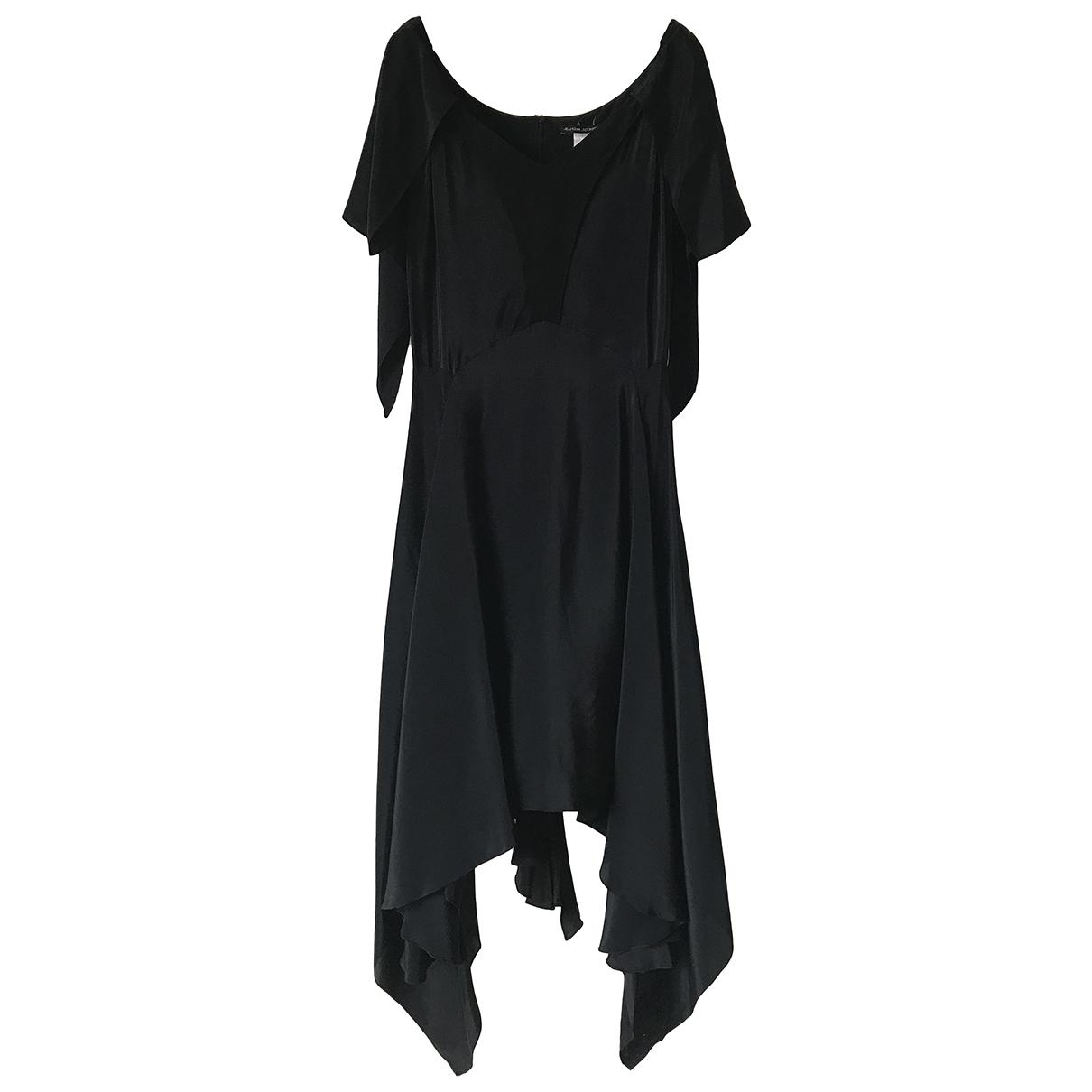 Martine Sitbon \N Kleid in  Schwarz Seide
