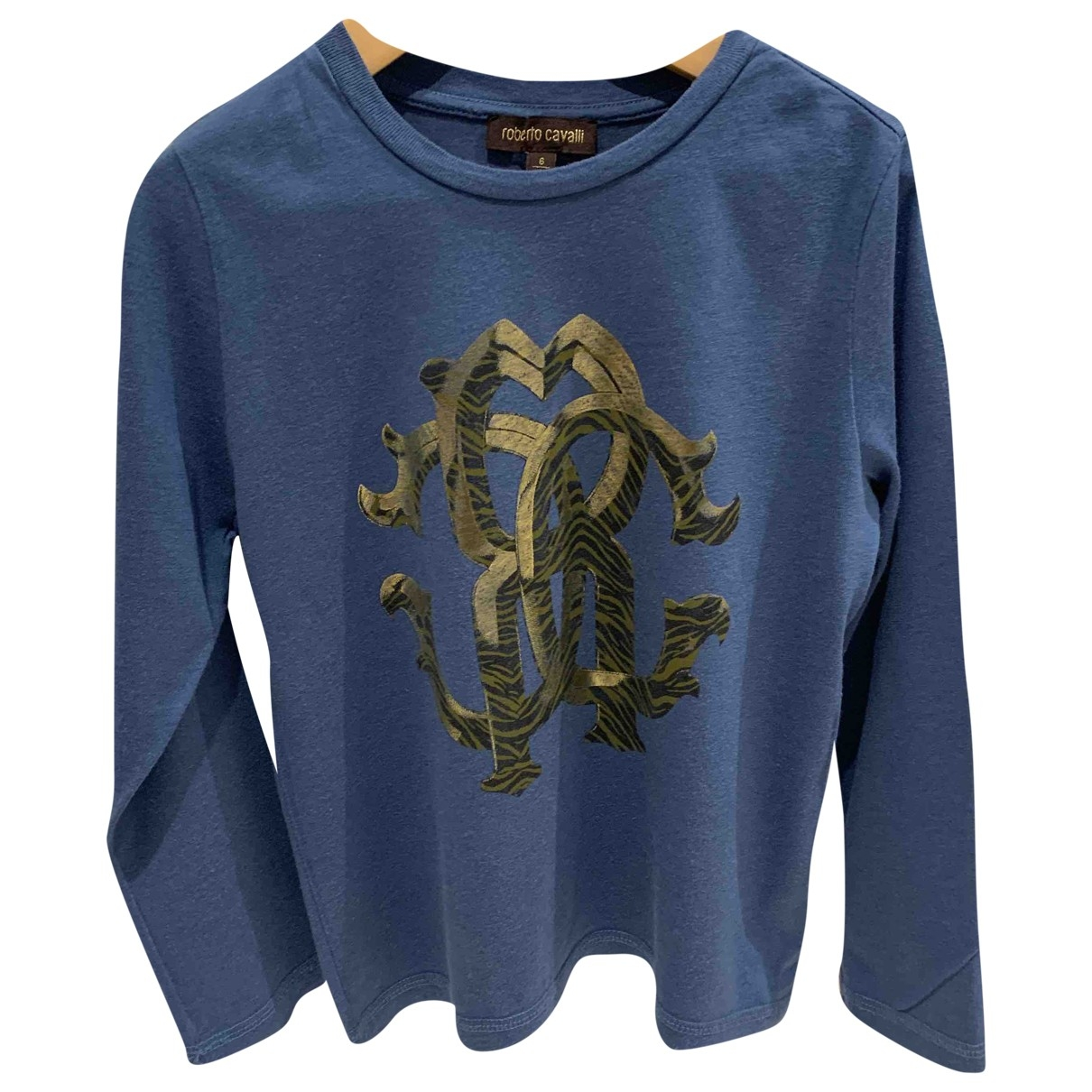Roberto Cavalli - Top   pour enfant en coton - bleu