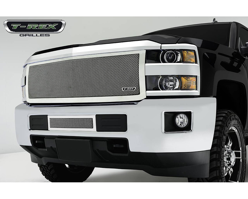 2015-2019 Silverado HD Upper Class Grille, Polished, 1 Pc, Replacement - PN #54123