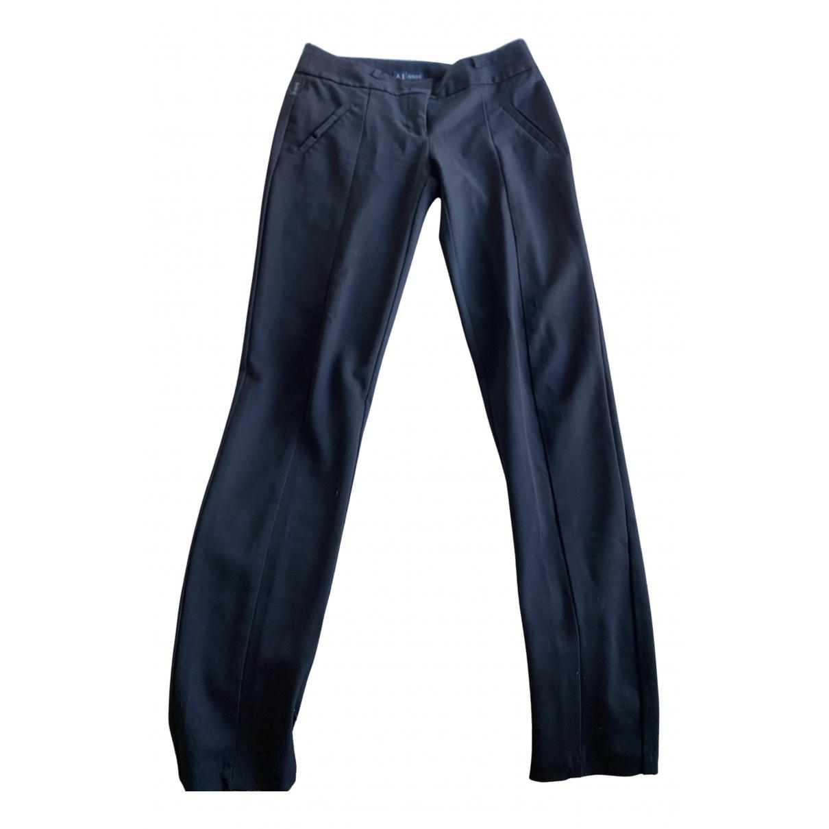 Armani Jeans N Black Trousers for Women 42 FR