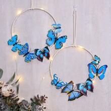 1 pieza atrapasueños con mariposa