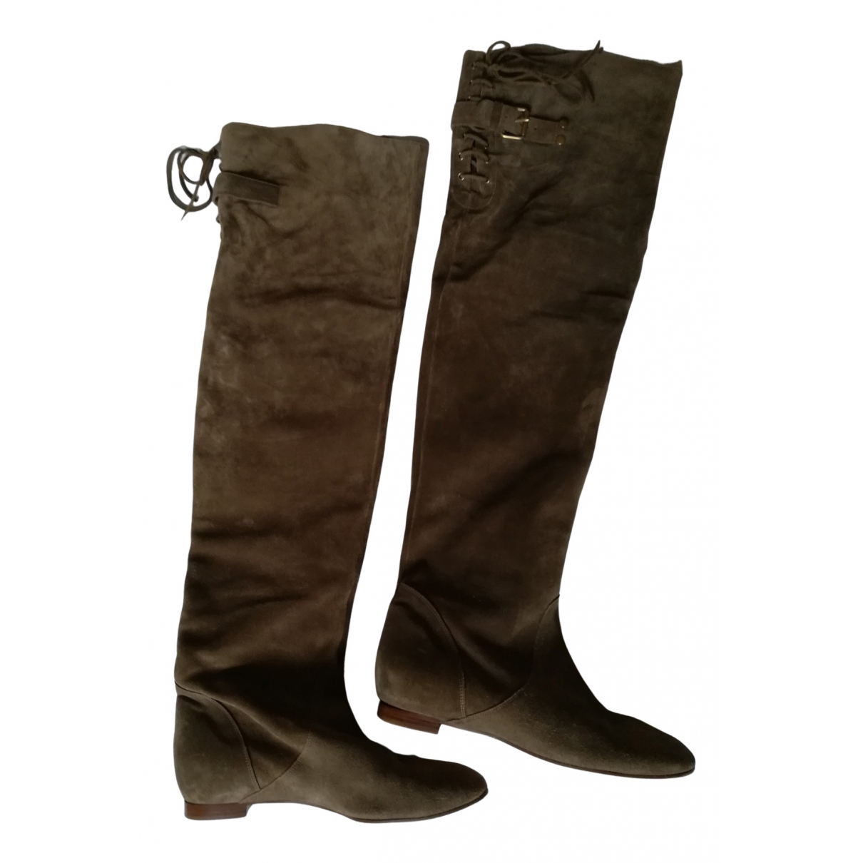 Chloé N Green Leather Boots for Women 39 IT