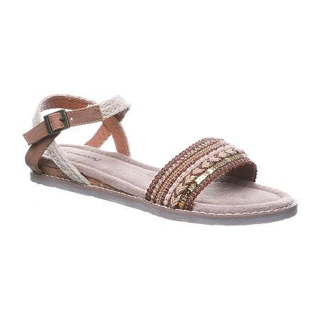 Bearpaw Womens Bali Flat Sandals, 9 Medium, Multiple Colors