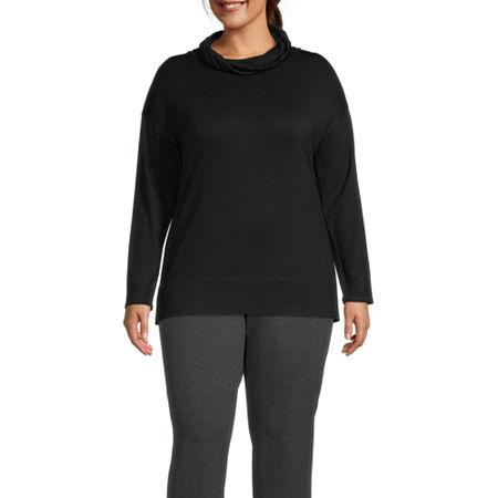 Liz Claiborne Womens Weekend Cowl Tunic - Plus, 4x , Black