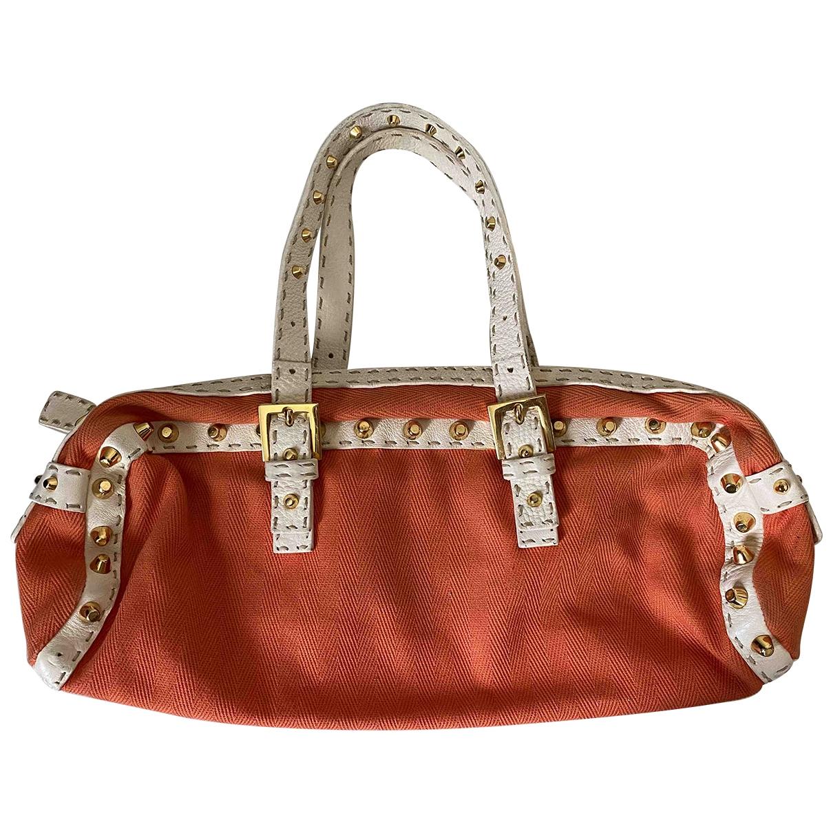 Fendi \N Orange Cloth handbag for Women \N