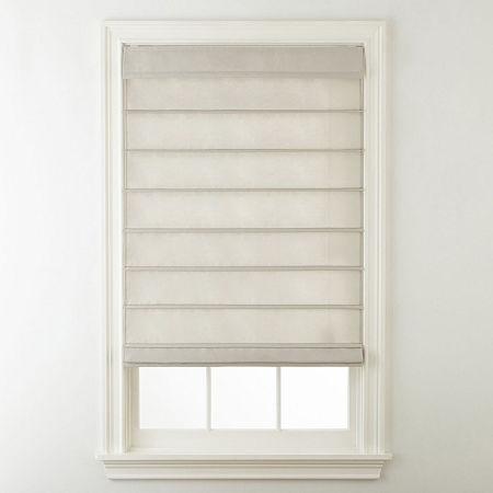 Home Expressions Savannah Cordless Roman Shade, One Size , Beige