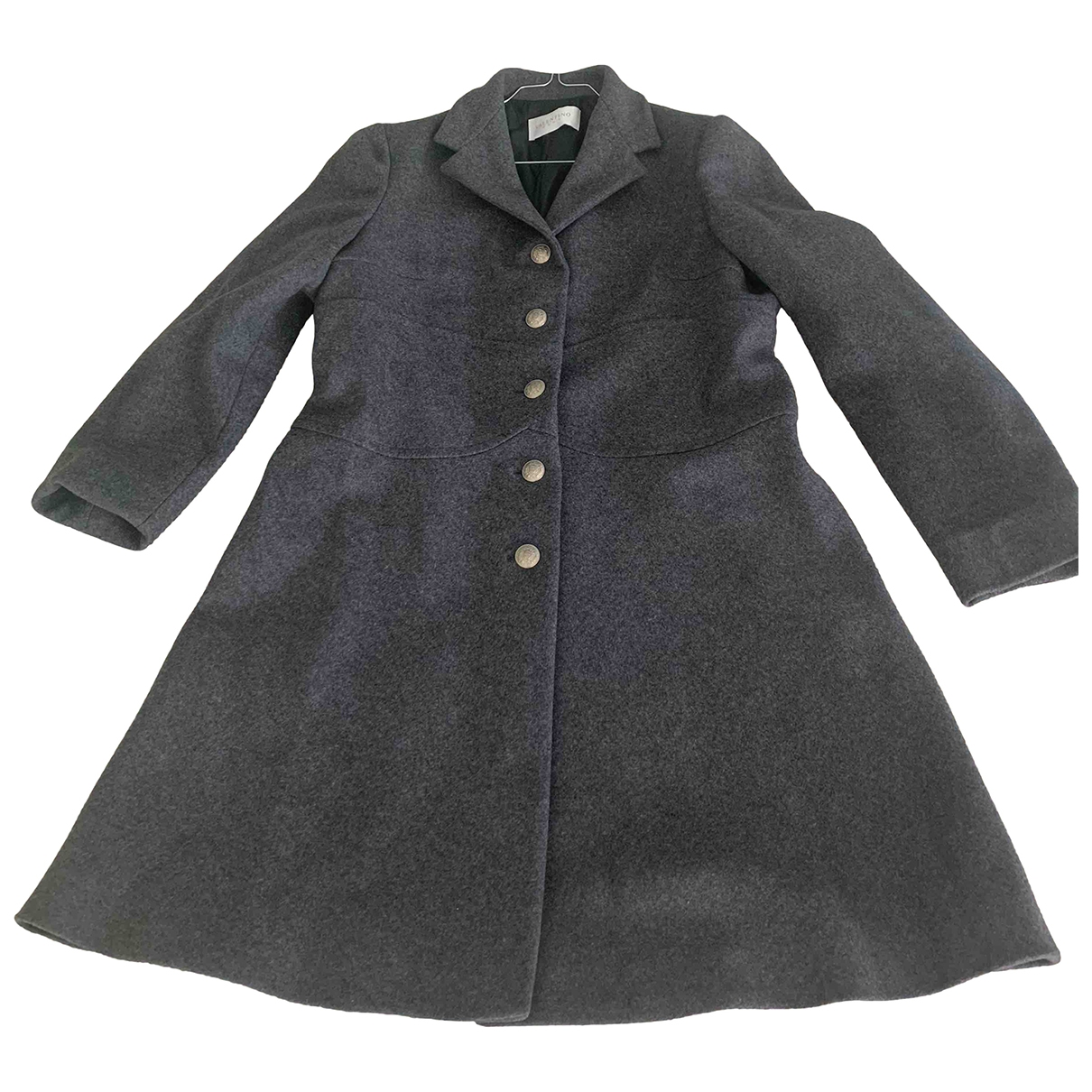 Valentino Garavani \N Grey Wool coat for Women 48 IT