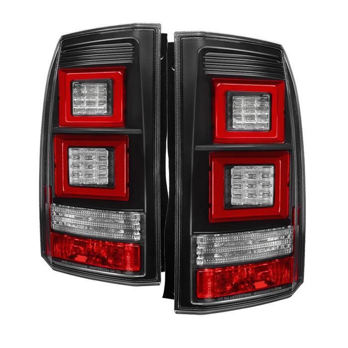 Spyder Auto ALT-YD-LRDLR410-LBLED-BK Black Light Bar LED Taillights Land Rover Discovery LR4 10-14