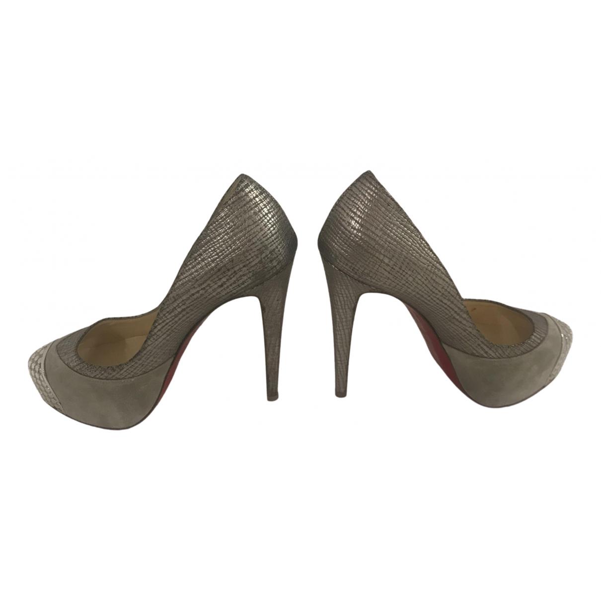 Christian Louboutin - Escarpins Simple pump pour femme en cuir - argente