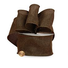 Brown Faux Burlap Ribbon Colored - 7/8 X 10 Yards - Jute - Type: Non-Wired by Paper Mart