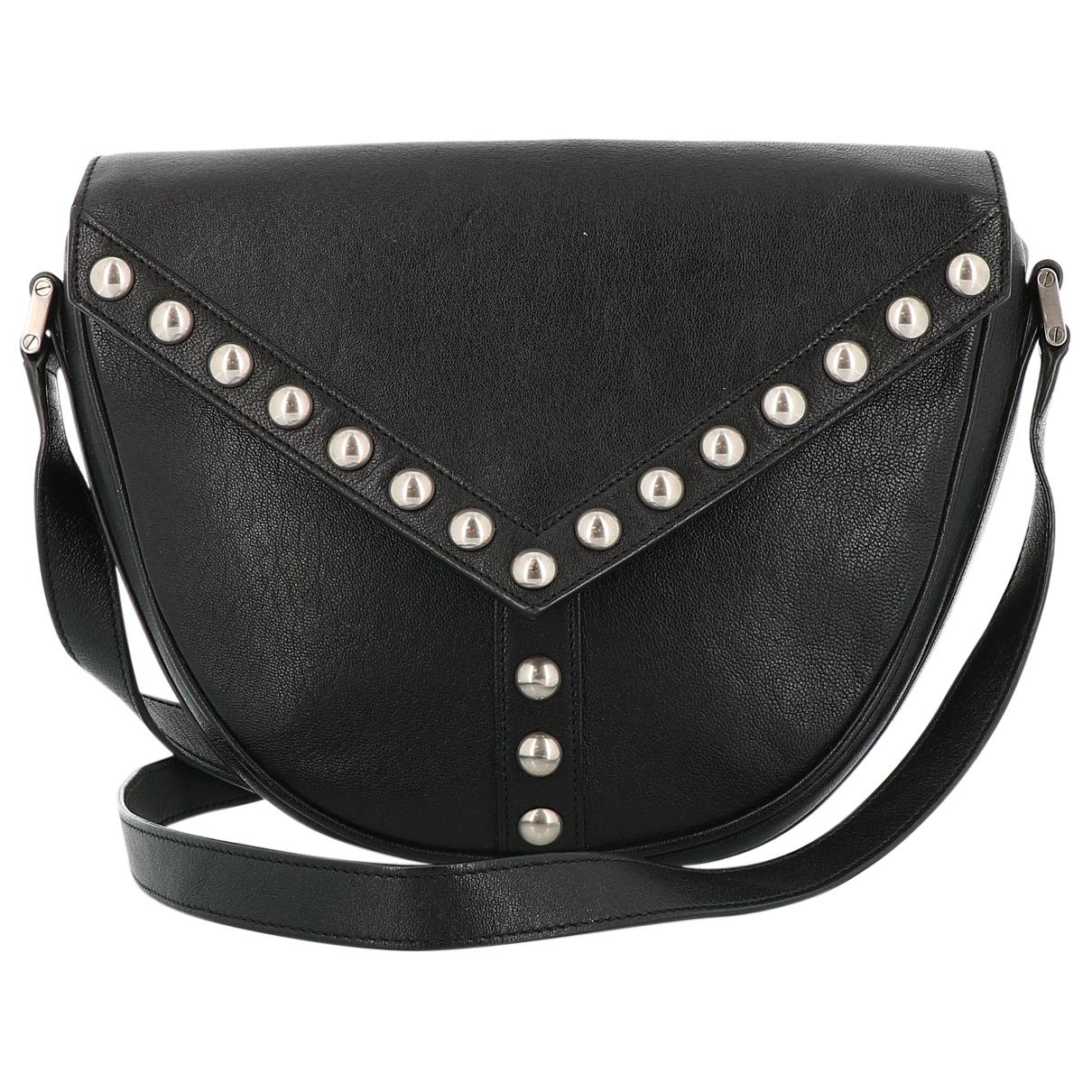 Saint Laurent Satchel Y studs Handtasche in  Schwarz Leder