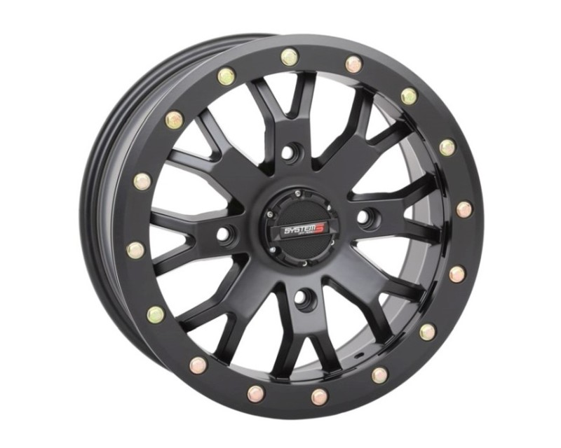 System 3 Off-Road 15S3-3137 SB-4 Beadlock Wheel 15x7 4x137 6+1(45mm) Matte Black