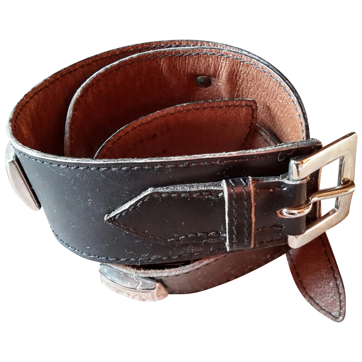 Laffargue \N Black Leather belt for Women M International