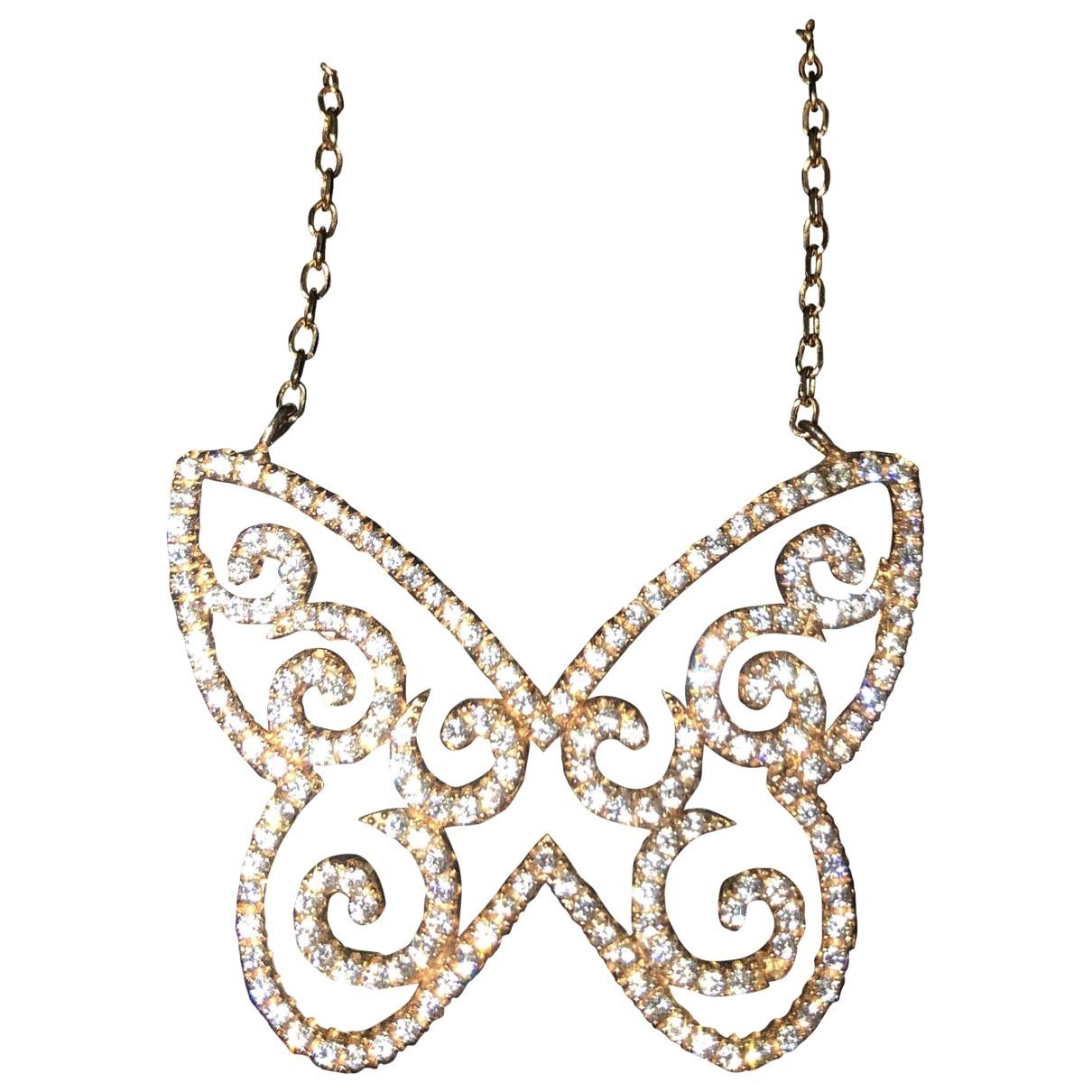 - Collier Motifs Animaliers pour femme en plaque or - rose