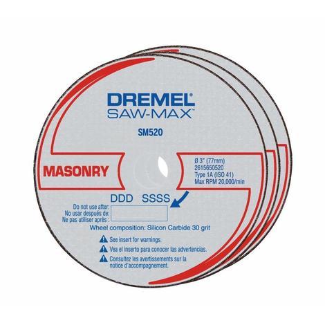 Dremel 3 pc. 3 In. Saw-Max™ Masonry Cut-Off Wheel