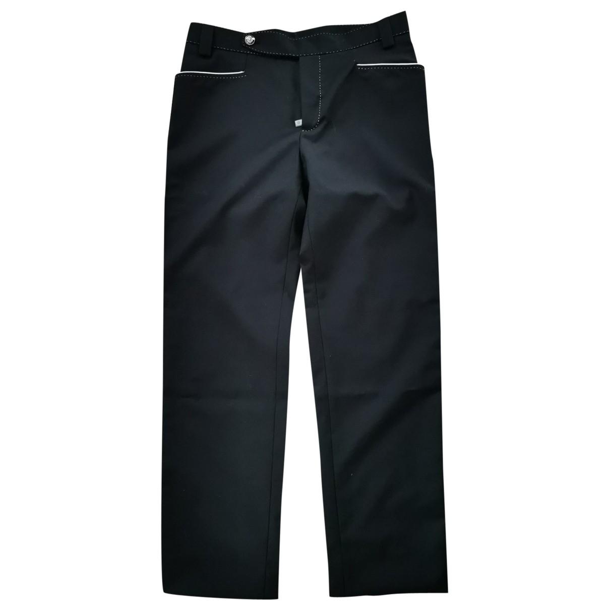 Dolce & Gabbana \N Black Wool Trousers for Men 52 IT
