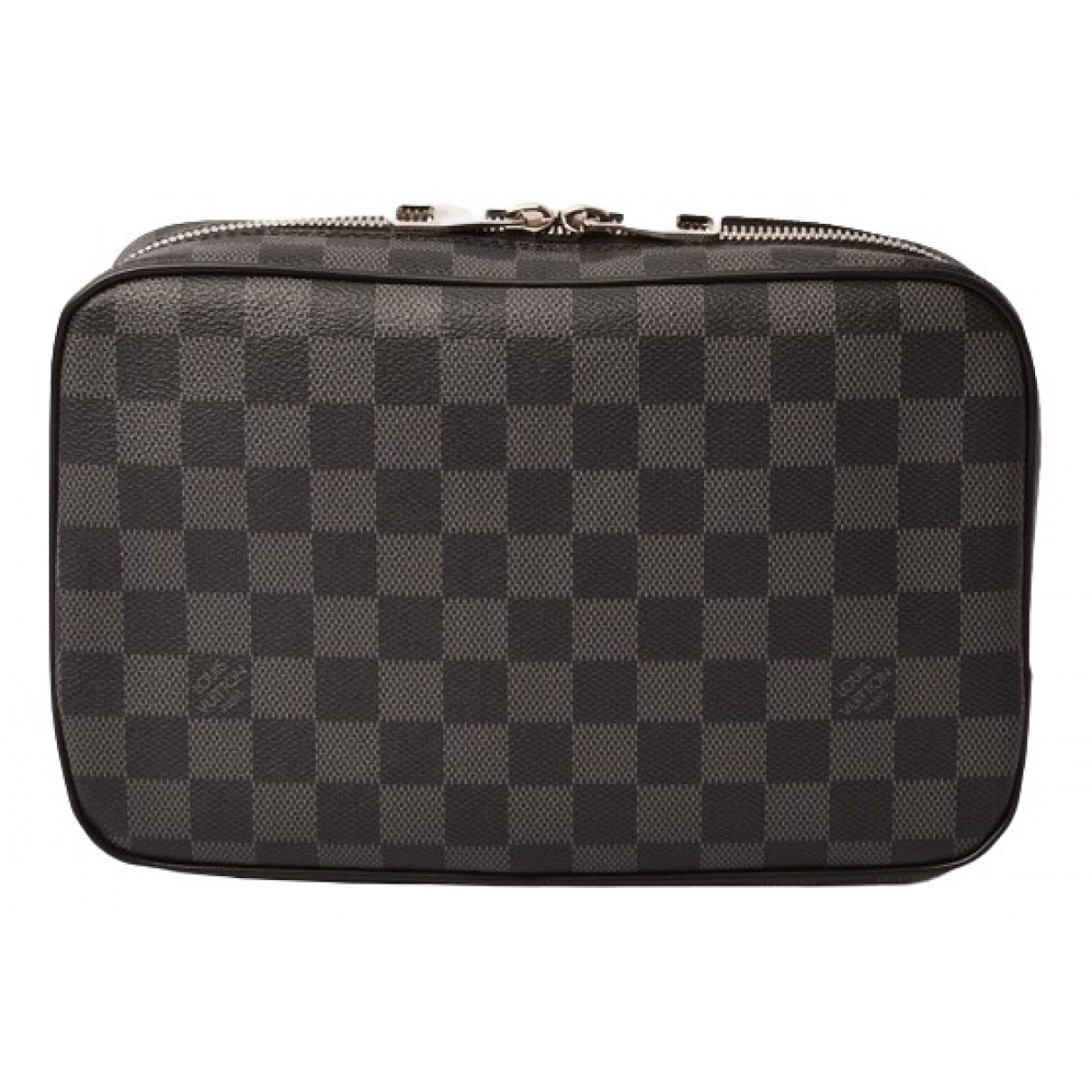 Louis Vuitton \N Anthracite Cloth Small bag, wallet & cases for Men \N