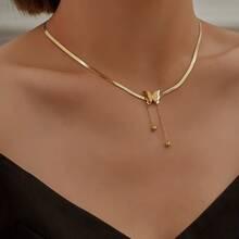 Halskette mit Schmetterling Dekor