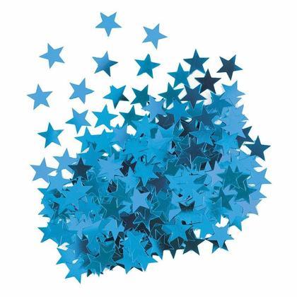 Metallic Blue Foil Star Table Confetti for Party Decoration, 0.5oz
