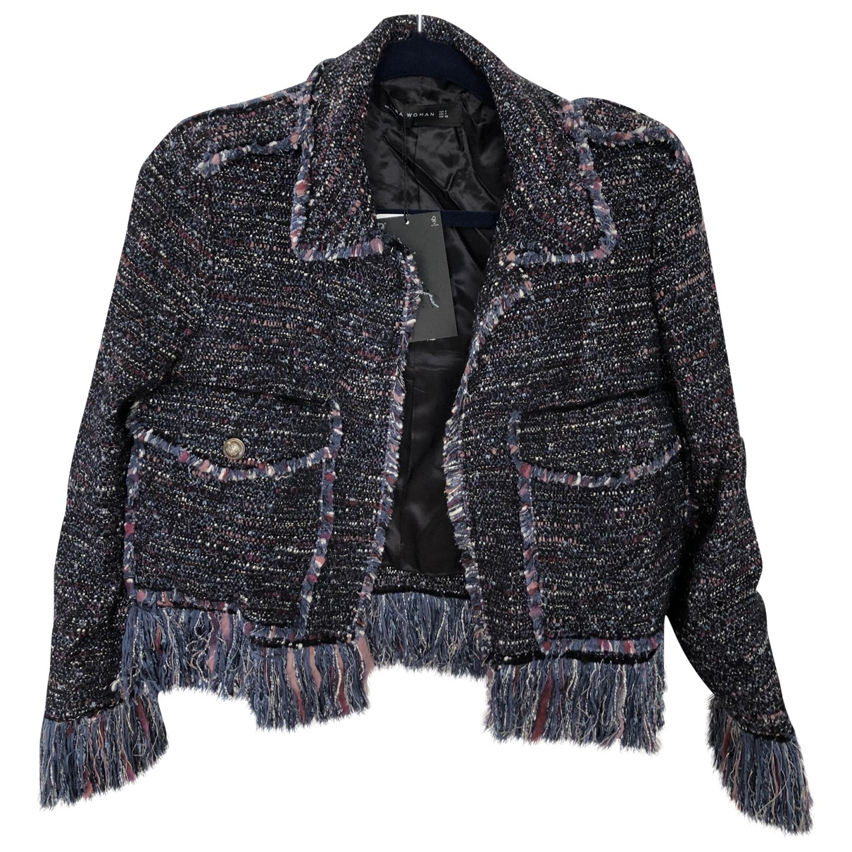 Zara - Veste   pour femme en coton - multicolore