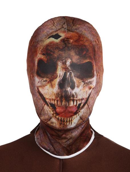 Milanoo Disfraz Halloween Mascara de lycra spandex de calavera Halloween