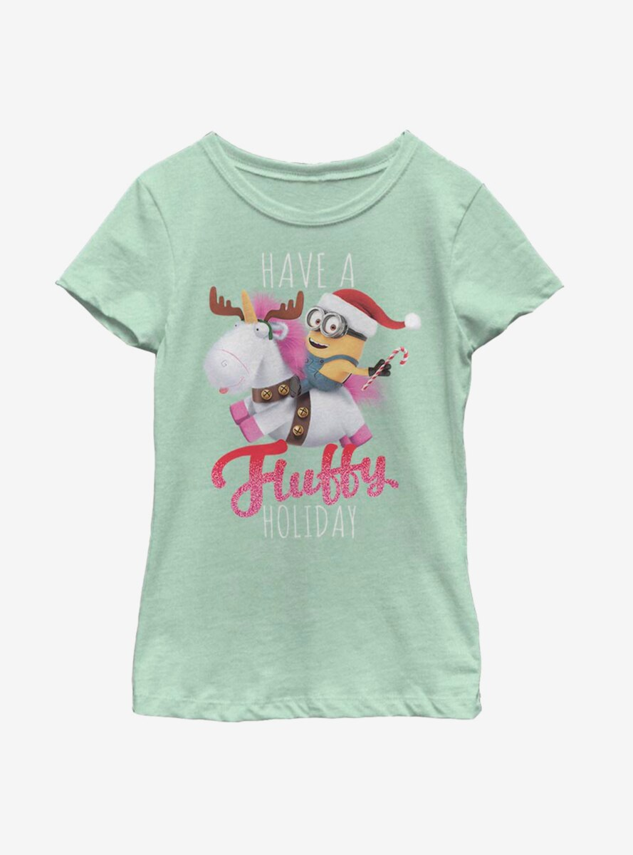 Despicable Me Minions Fluffy Holiday Youth Girls T-Shirt