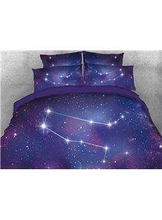 Vivilinen Galaxy Gemini Printed 4-Piece 3D Bedding Sets/Duvet Covers