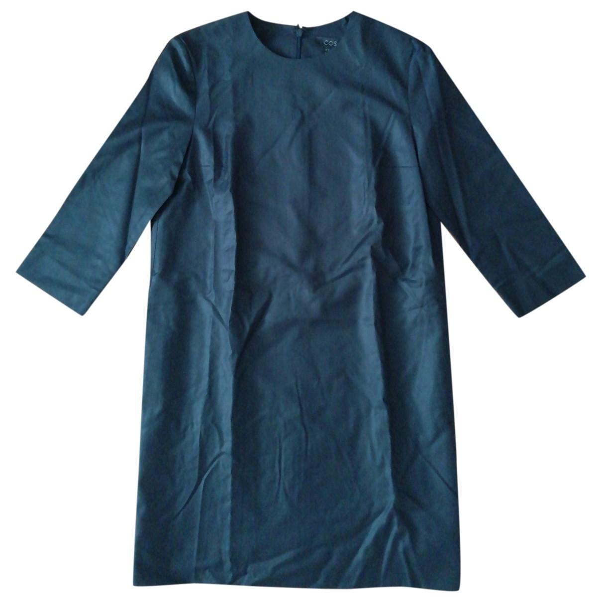 Cos - Robe   pour femme en laine - bleu