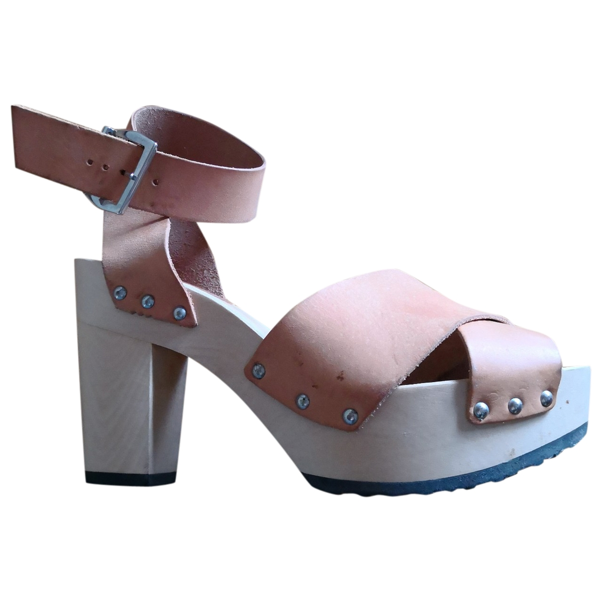 Non Signé / Unsigned \N Beige Leather Mules & Clogs for Women 40 IT
