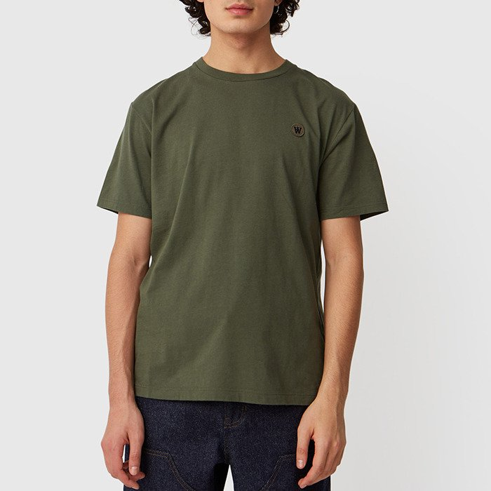 Wood Wood Ace T-shirt 10035700-2222 ARMY GREEN