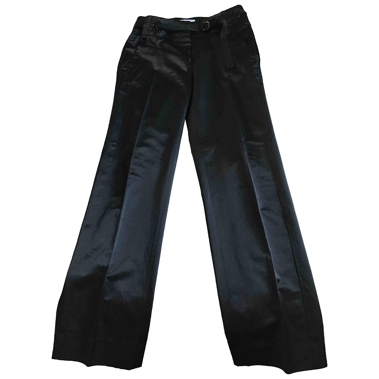 Iceberg \N Black Cotton Trousers for Women 40 IT